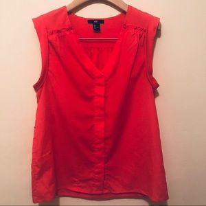 H&M Coral Top Size 4